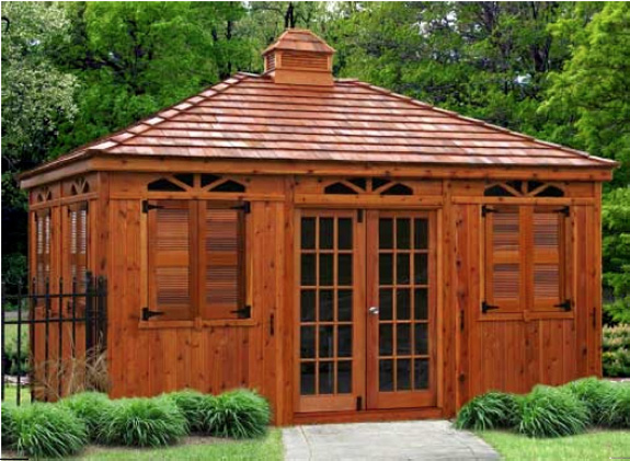 Outdoor living - Enclosed gazebo models ...