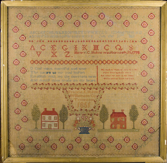 Tennessee Samplers 19th Century Schoolgirl Embroidery Exhibition