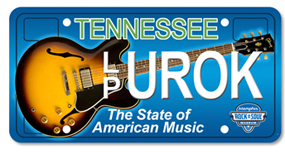 tennessee guitar specialty plate