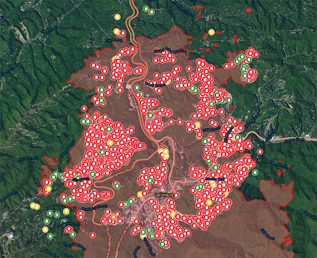 smokey mountain fire map U S Army Reserve Responds To Smoky Mountain Wildfire Aftermath